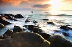 La onda de la piedra Fotos de archivo