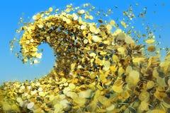 La onda del dinero Imagen de archivo libre de regalías