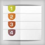 La opción etiqueta - fondo del progreso - la opción o versiones de producto Imagen de archivo