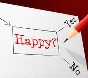 La opción feliz representa a Joy Cheerful And Alternative Fotografía de archivo