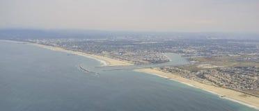 La opinión aérea hermosa Marina Del Rey Imagen de archivo