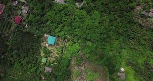 La opinión de alto ángulo de Sri Nakhon Khuean Khan Park y jardín botánico está situada en la explosión Krachao, Phra Pradaeng, S almacen de video