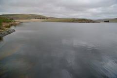 La opinión de Craig Goch Dam, a menudo llamada la presa superior, es una presa de la albañilería en Elan Valley de País de Gales Imagen de archivo