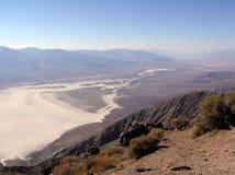 La opinión de Dante, línea de la playa de la sal, parque nacional de Death Valley Fotos de archivo libres de regalías