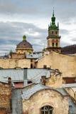 La opinión de la ciudad, Lviv, Ucrania Foto de archivo