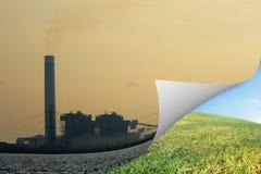 Opinión de la fábrica abierta a la naturaleza Fotografía de archivo