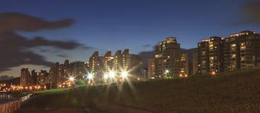 La opinión de la noche del parque de Dazhi Fotografía de archivo
