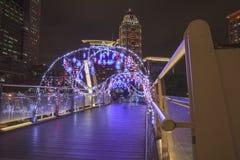 La opinión de la noche en la ciudad de Taipei Va a la Navidad Fotografía de archivo libre de regalías