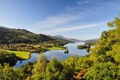 La opinión de la reina en el lago Tummel - Escocia, Reino Unido Foto de archivo libre de regalías