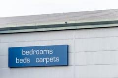 La opinión del día del los dormitorios acuesta la muestra de las alfombras fotografía de archivo