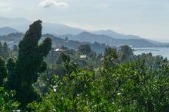 La opinión del mar de los jardines botánicos en Batumi, Georgia Fotografía de archivo