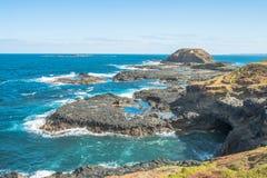 La opinión del paisaje el área de la protección de Nobbies de Phillip Island, Australia Fotos de archivo libres de regalías
