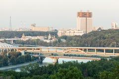 Vista de la Academia de Ciencias y de la torre de Shukhov Imagen de archivo
