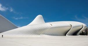 La opinión panorámica muy grande Haydar Aliyev Centre diseñó por AR Imagen de archivo