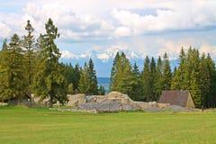 La opinión sobre alto Tatras Imagen de archivo libre de regalías