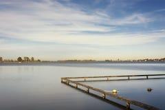 La opinión sobre el Loosdrechtse plassen, los Países Bajos Un área con varios lagos hermosos conectados, foto de archivo libre de regalías