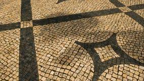 La opinión sobre el piso típico de Lisboa, adorna típico de esta ciudad metrajes