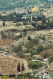 La opinión sobre Jerusalén Fotografía de archivo libre de regalías