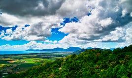 La opinión sobre Kuranda Skyrail Imagen de archivo