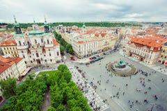 La opinión sobre Praga Imagenes de archivo
