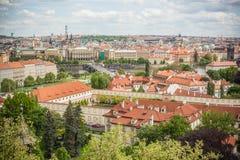 La opinión sobre Praga Imágenes de archivo libres de regalías