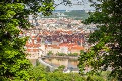 La opinión sobre Praga Fotografía de archivo