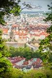 La opinión sobre Praga Imagen de archivo