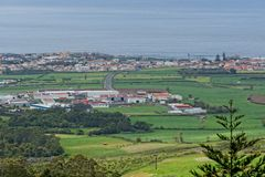 La opinión sobre pueblo en Azores Fotografía de archivo