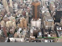 La opinión superior sobre una megápolis Fotografía de archivo libre de regalías