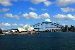 La opinión Sydney Harbor imagen de archivo