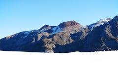 La opinión sobre las montañas de Dolomiti y el esquí se inclinan Imagen de archivo