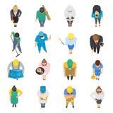 La opinión superior de las profesiones coloreó iconos fijados Fotografía de archivo libre de regalías