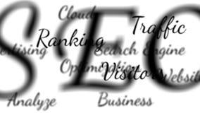La optimización del Search Engine de SEO redacta el lazo del fondo con mate libre illustration