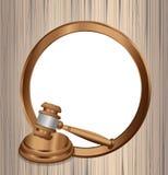 La orden oficial del juicio Foto de archivo