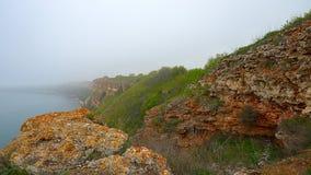 La orilla del Mar Negro en la madrugada en ka del cabo de la niebla Imagenes de archivo