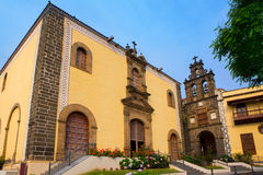 La Orotava San Agustin church in Tenerife Royalty Free Stock Images