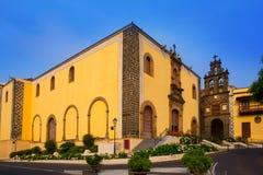 La Orotava San Agustin kościół w Tenerife Fotografia Stock