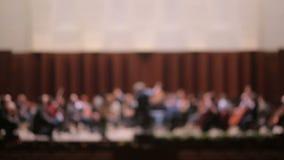 La orquesta está desenfocado almacen de metraje de vídeo