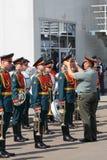 La orquesta militar Foto de archivo libre de regalías