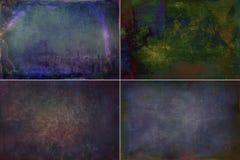 La oscuridad de la colección coloreó fondos de las texturas del grunge foto de archivo