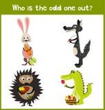 La página educativa colorida del rompecabezas del juego de la historieta de los niños para los libros de niños y las revistas en  Foto de archivo