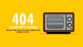 La página no encontrada con la TV perdió el ejemplo del canal Fotos de archivo