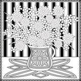La página que colorea reserva con el ejemplo ornamental inconsútil decorativo del modelo de los elementos Imagen de archivo libre de regalías
