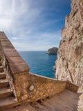 La péninsule rocheuse du capo Caccia image libre de droits