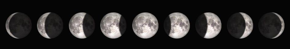 La période de la pleine lune à la nouvelle lune ?l?ments de cette image meubl?s par la NASA photo stock