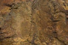 La pétroglyphe sur Tamgaly-TAS, Kazakhstan Photos stock