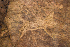 La pétroglyphe sur Tamgaly-TAS, Kazakhstan Images libres de droits