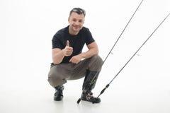 La pêche est toujours plaisir Image libre de droits
