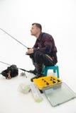 La pêche est toujours plaisir Images stock