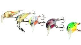 La pêche leurre (les Wobblers) image libre de droits